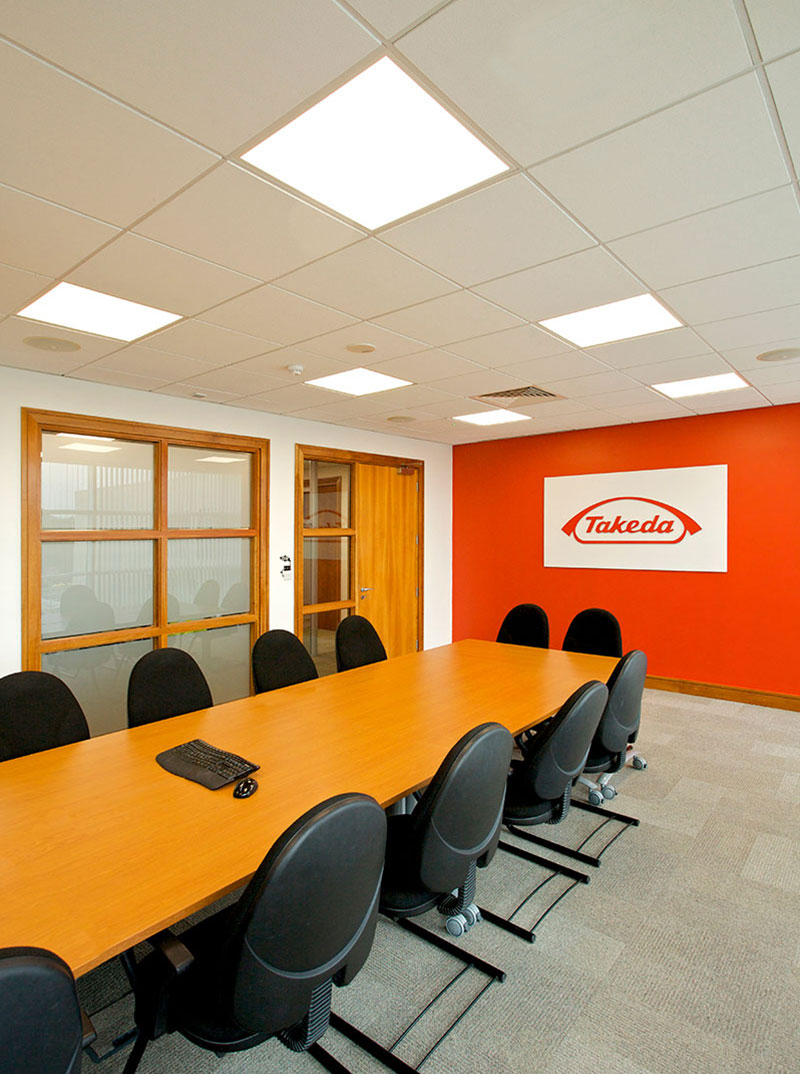 ROBUS ATMOS LED Panels installed in Takeda Ireland's (Grange Castle) main boardroom
