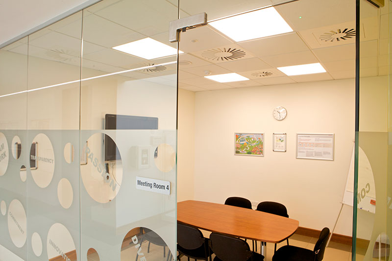 ROBUS ATMOS LED Panels installed in Takeda Ireland's (Grange Castle) meeting room