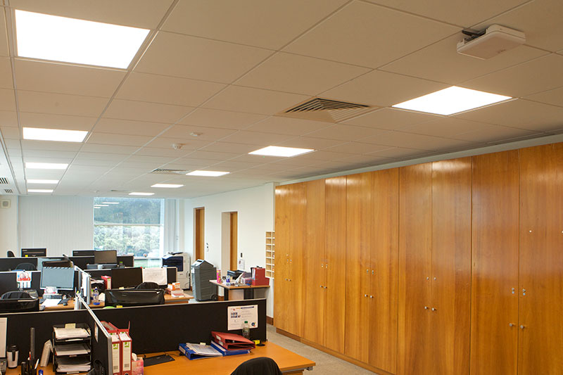 ROBUS ATMOS LED Panels installed in one of Takeda Ireland's (Grange Castle) offices.