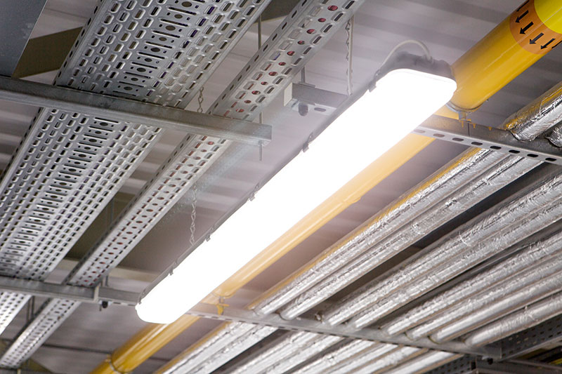 ROBUS VULCAN LED Corrosion Proof installed in the store room of Takeda Ireland, Grange Castle