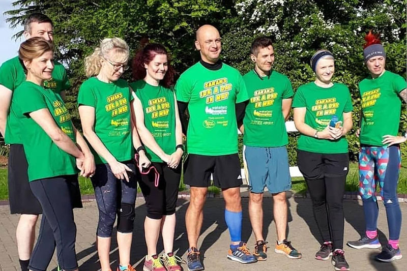 Running in aid of Wakefield Hospice