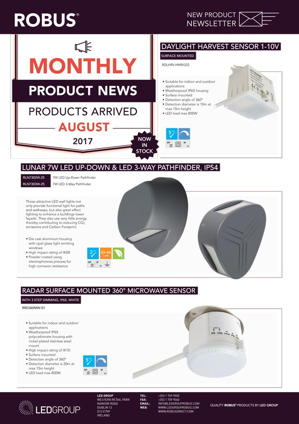 ROBUS Product News August 2017